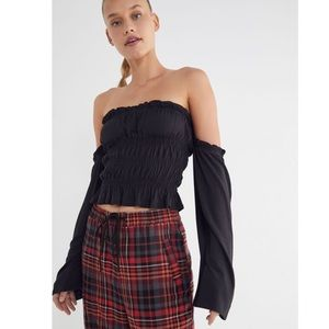 Urban Outfitters Off the Shoudler Slight Crop Top
